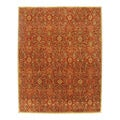 Hand-tufted Orosius Red Wool Rug (5' x 8')