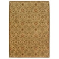 Orosius Hand-tufted Gold/ Brown Wool Rug (8' x 11')