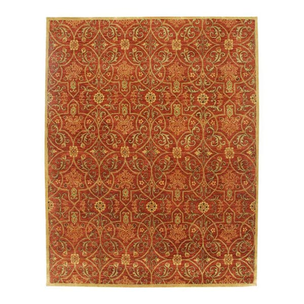 Hand-tufted Orosius Wool Rug (8' x 11')