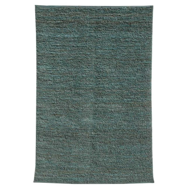 Handwoven Blue Jute Area Rug (8' x 10')