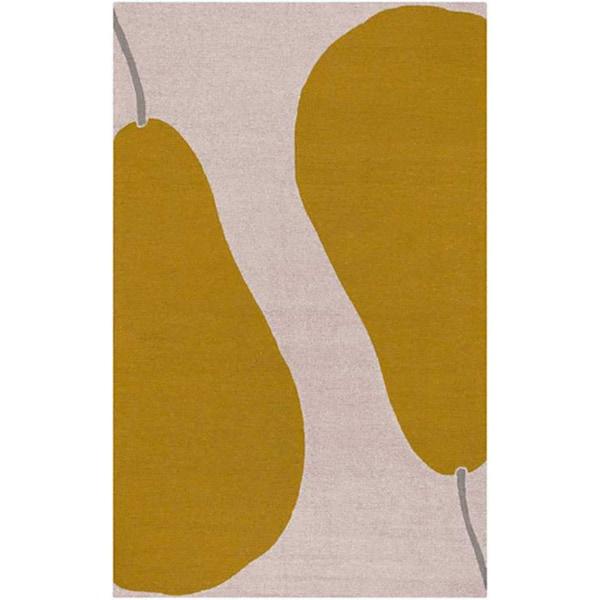 Hand-hooked Maius Beige Rug (5' x 7'6)
