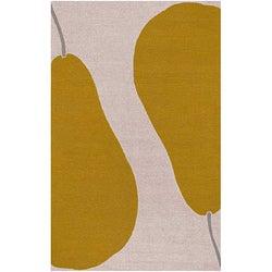 Maius Hand-hooked Biege Rug (3'6 x 5'6)
