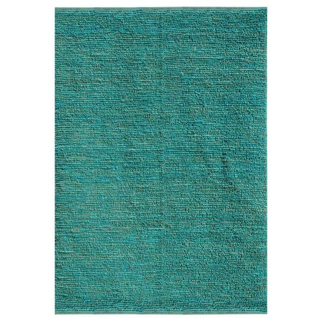Hand-woven Green Jute Rug (3'6 x 5'6)