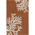 Nepos Hand-hooked Orange Rug (3'6 x 5'6)