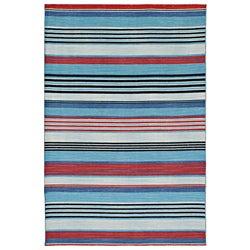 Flat-weave Striped Wool Rug (8' x 10')