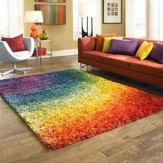 Stella Rainbow Shag Rug (5'2 x 7'7)