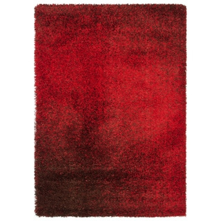 Cantebury Red/ Brown Shag Rug (7'7 x 10'5)