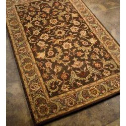 Hand-tufted Brown/ Gold Wool Rug (8' x 11')