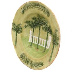 Palm Tree Collection Serving Platter and Matching Serving Bowl Set