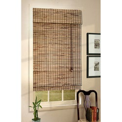 Natural Burnt Kiawah Roman Shade (51.5 in. x 72 in.)