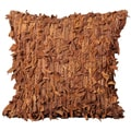 Brown Cowhide 20 x 20-inch Decorative Pillow