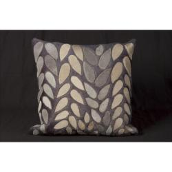 Nourison Nourison Blue Blue Cowhide Decorative Pillow (1'8 x 1'8)