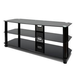 Avista Harmoni II Black High Gloss Piano 47-in Wide Three-shelf TV Stand