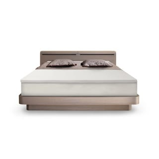 SwissLux EuroSupreme 2-inch Queen/ King/ Cal King-size Memory Foam Mattress Topper with cover