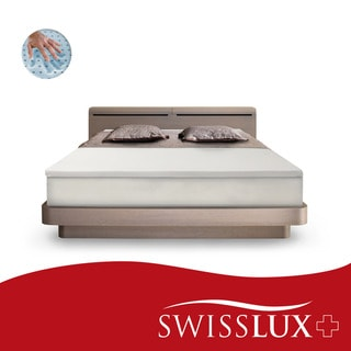 SwissLux EuroSupreme 2-inch Memory Foam Mattress Topper with Cover