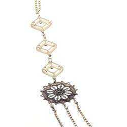 Silvertone 'Dreams' Crystal Necklace