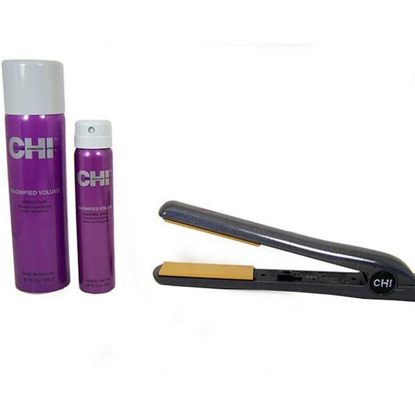CHI Sliver Glisten Ceramic Hairstyling Iron Set