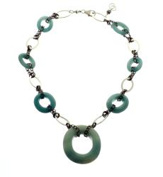 Silvertone 'Serenity' Amazonite Necklace