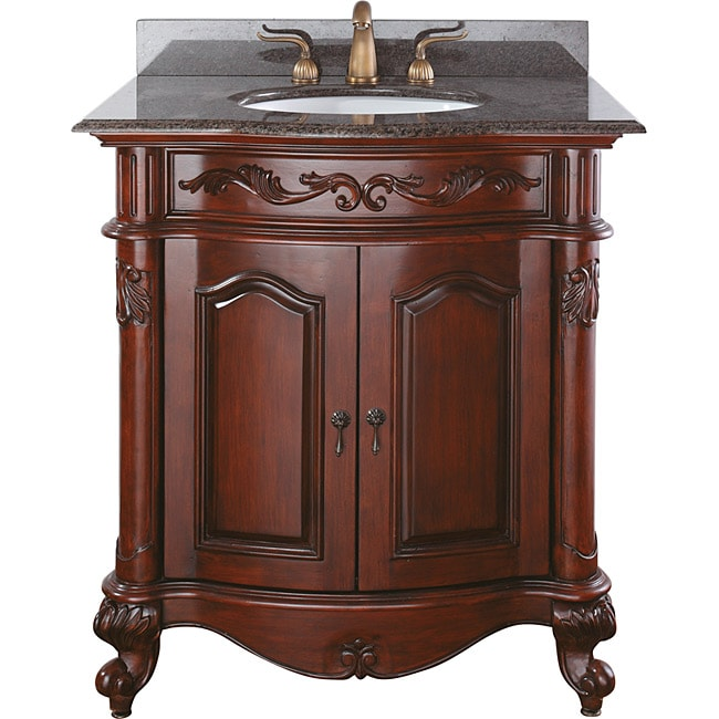 Avanity Provence 30-inch Single Vanity in Antique Cherry Finish with Sink and Top