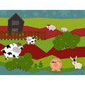 Ankan 'Farm Animals' Gallery-wrapped Canvas Art