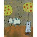 Ankan 'Cats playing' Gallery-wrapped Canvas Art
