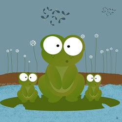 Ankan 'Frogs' Gallery-wrapped Canvas Art