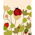 Ankan 'Ladybugs' Gallery-wrapped Canvas Art