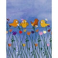 Ankan 'Birds and Flowers 1' Gallery-wrapped Canvas Art