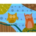 Ankan 'Owls 1' Gallery-wrapped Canvas Art