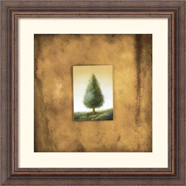 Scott Duce 'Green Tree' Framed Art Print