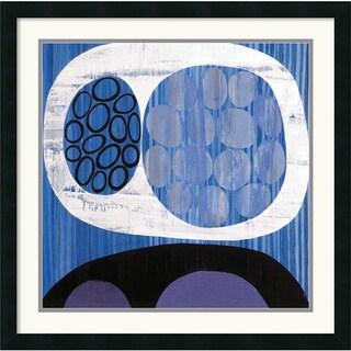 Mary Calkins 'Waterway l' Framed Art Print