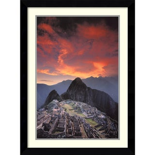 Galen Rowell 'Sunset Over Machu Picchu, Peru' Framed Art Print