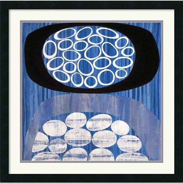 Mary Calkins 'Waterway ll' Framed Art Print