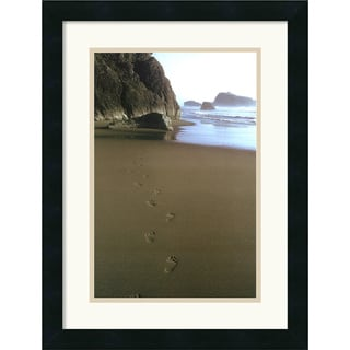 Ruth Burke 'Ocean Footprints' Framed Art Print