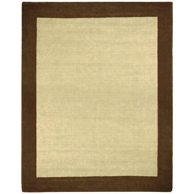 Hand-tufted Brown Wool and Natural Jute Rug (5' x 8')