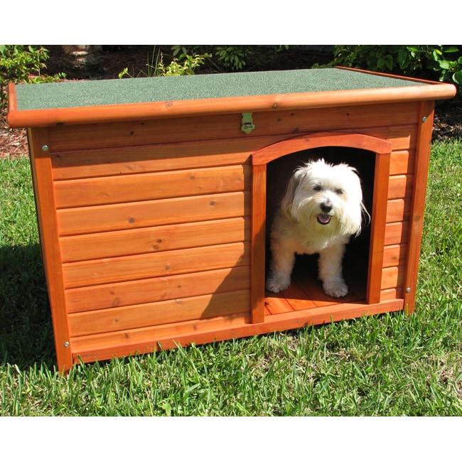 Crown Pet Small Cedar Slant Roof Pet House 13912764