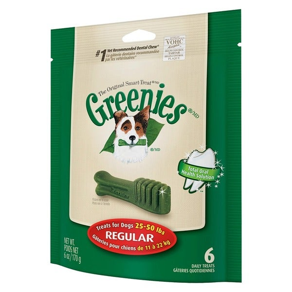 Greenies Mini Treat-Pak Regular Bones (Pack of 6)