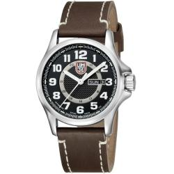 Luminox 1801 Field Automatic Black/ Silver Dial Leather Strap Watch