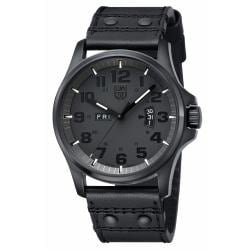 Luminox Men's Blackout Black Leather Watch