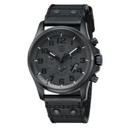 Luminox Blackout Black Leather Watch