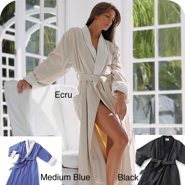 Elite Microfiber Spa Bath Robe with Soft Cotton Terry Lining