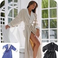 Fattowels Elite Microfiber Spa Robe with Soft Cotton Terry Lining
