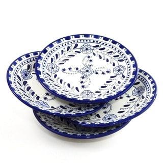 Set of 4 Azoura Design 8-inch Round Side Plates (Tunisia)