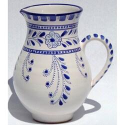Azoura Design Ceramic 54-oz Pitcher (Tunisia)