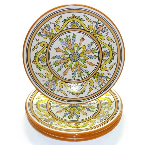 Set of 4 Sauvage Design 11-inch Round Dinner Plates (Tunisia)