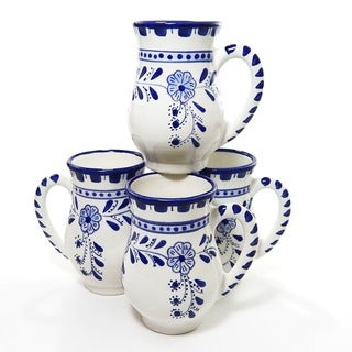 Set of 4 Azoura Design Large 16-oz Mugs (Tunisia)