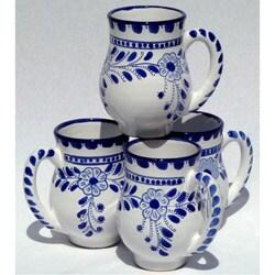 Set of 4 Azoura Design Large 16-oz Mugs (Tunisia)
