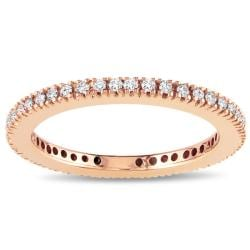 Miadora 18k Pink Gold 1/3ct TDW Certified Diamond Eternity Band (G-H, SI1-SI2)