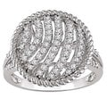 Miadora 14k Gold 1/2ct TDW Diamond Textured Circle Ring (H-I, I1-I2)