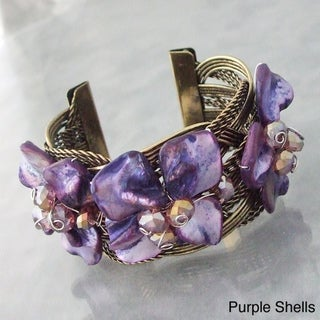Mother of Pearl Floral Cuff Bracelet (Philippines)